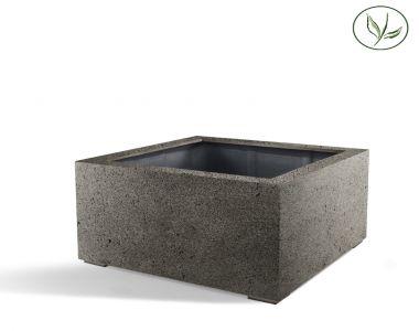 Paris Low Cube 80 - Béton gris (80x80x60)