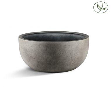 Paris New Egg Pot Low 94 - Béton gris (94x56)